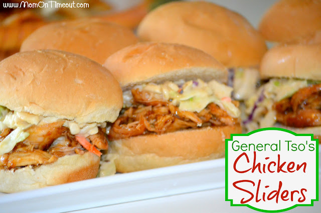 General Tso's Chicken Sliders w/ Crunch Slaw | Mom On Timeout