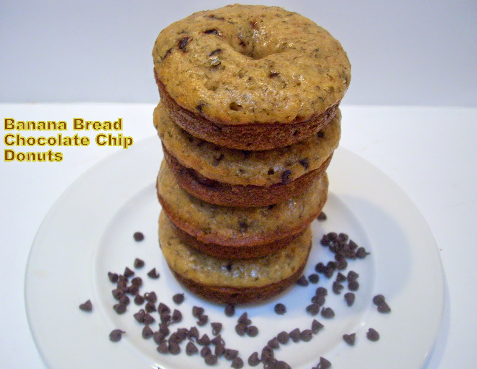 Banana Bread Chocolate Chip Donuts! Recipe from Flavors by Four