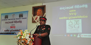 Chief Guest Brig. K.D.C.G.J. Thilakaratna RSP addressing the gathering