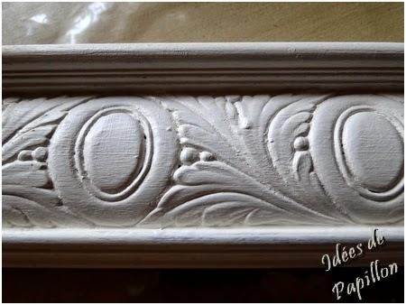 peindre cadre bois acrylique