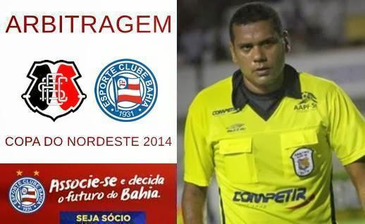 Arbitragem para o jogo Santa Cruz x Bahia - Copa do Nordeste 2014