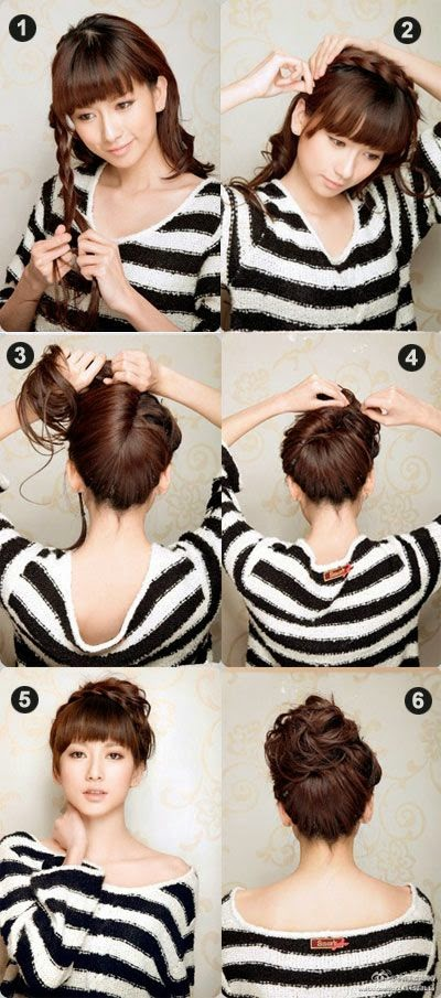 Taking hair from one side of your hair, braid tight