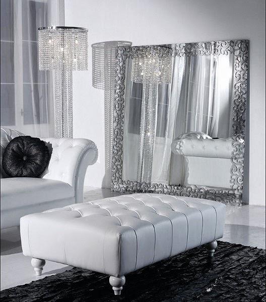 Salas con espejos colores en casa for Espejos biselados para sala