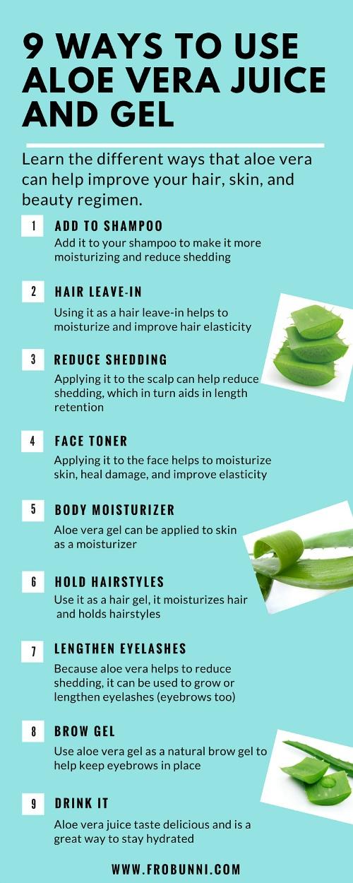 FroBunni: 9 Ways to Use Aloe Vera Juice and Gel