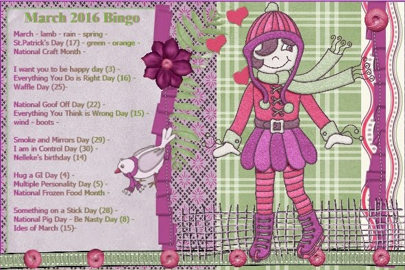 March 2016 Dutchie-Nelleke's Bingo card
