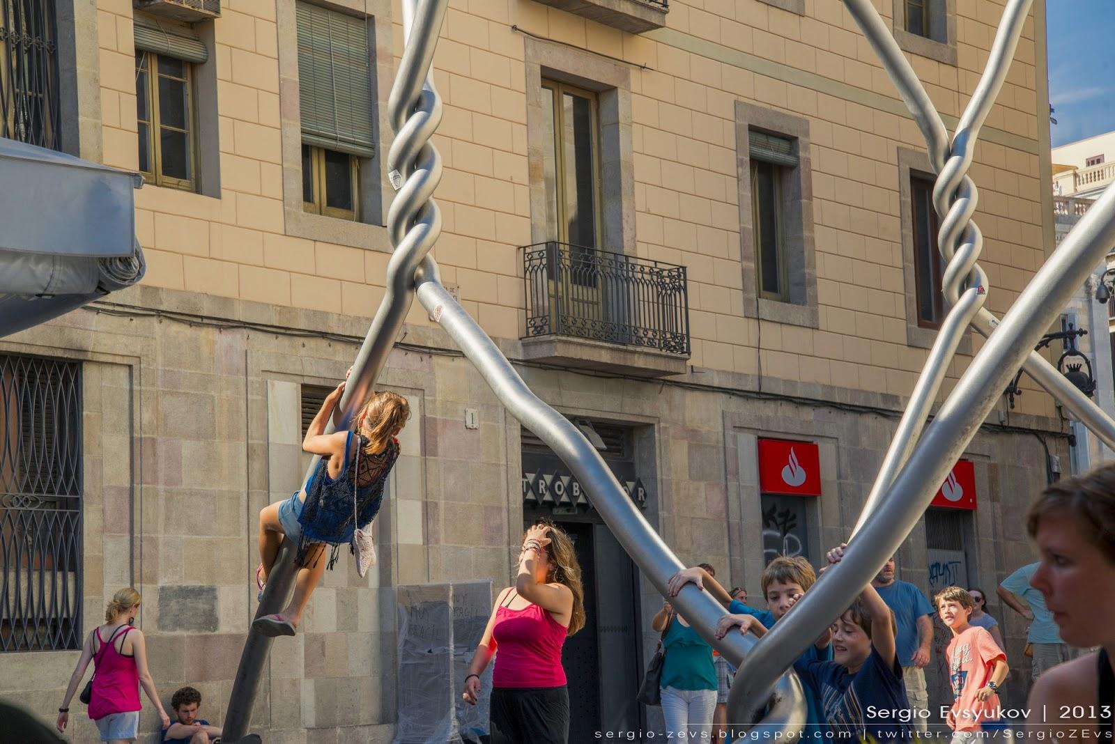 Homenatge als castellers Barcelona