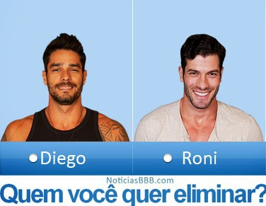 Paredão BBB14: Diego ou Roni