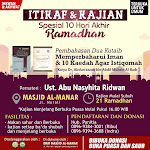 Itikaf dan Kajian Spesial 10 Hari Terakhir Ramadhan 1439 H