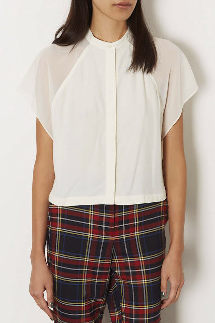 white blouse topshop