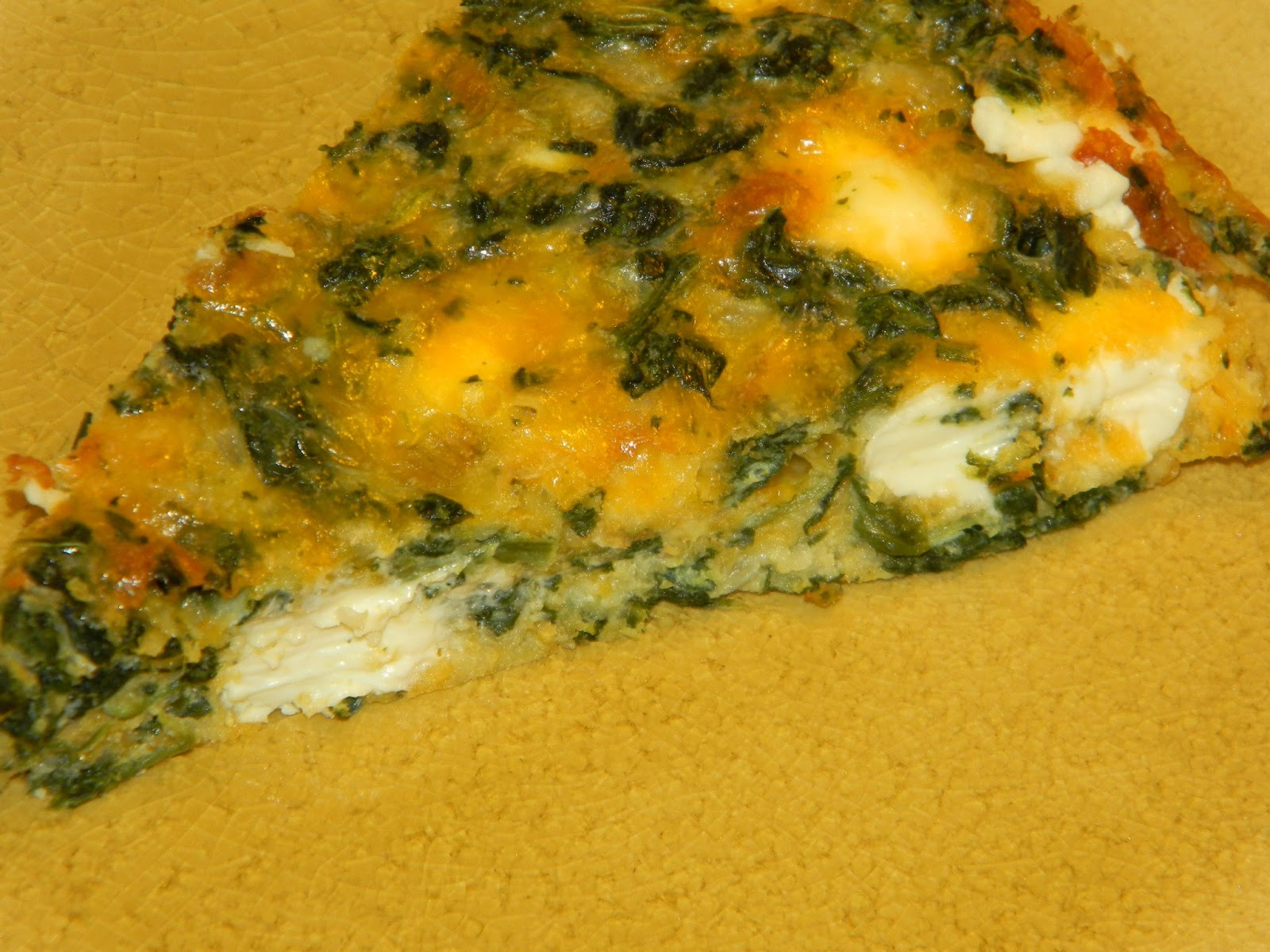 Gluten Free: Naked Spinach and Muenster Quiche