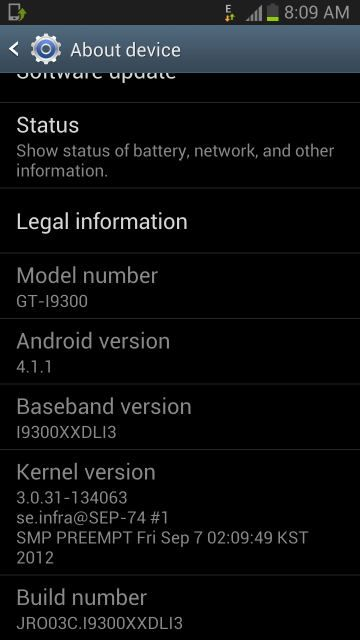 android jelly bean XXDLI3 firmware leaked for galaxy s3