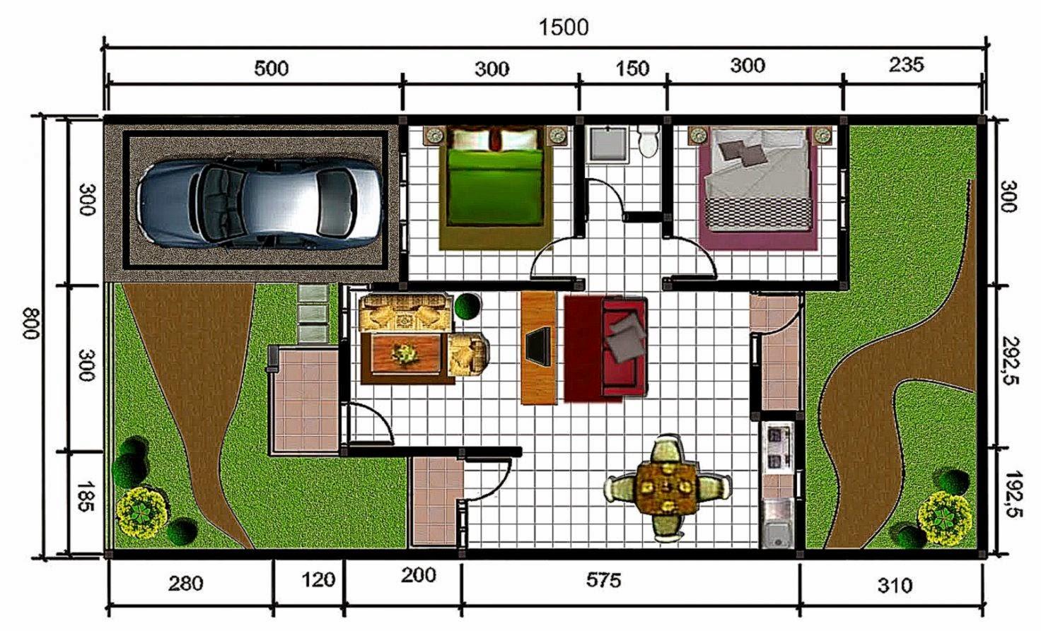 denah rumah design rumah minimalis