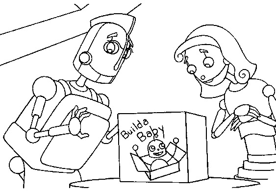 Disney Robots Coloring Pages : Disney colouring pages for kids