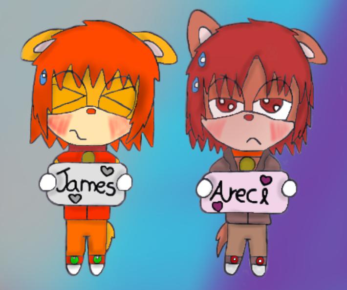Un dibujo de dos parejas,pero solo una es mia y de Amanda XD Y es la de Smoreci! Quedo genial Xime!