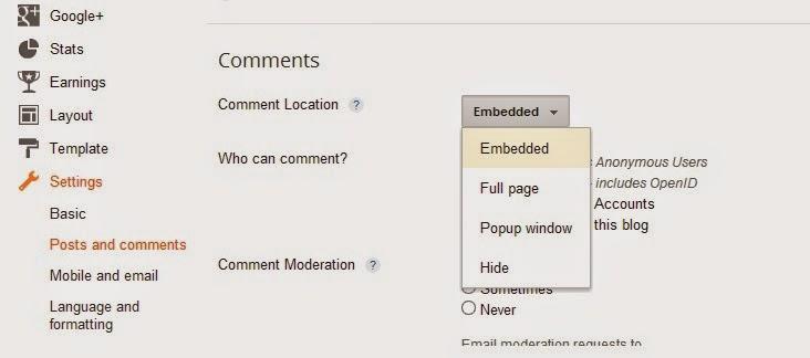 Cara Memunculkan Kolom Komentar Blog