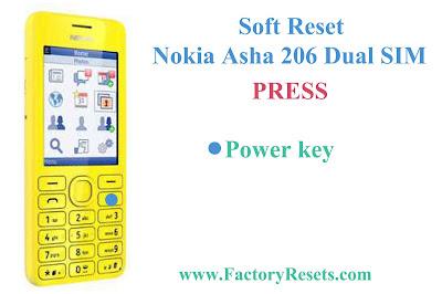 Soft Reset Nokia Asha 206 Dual SIM