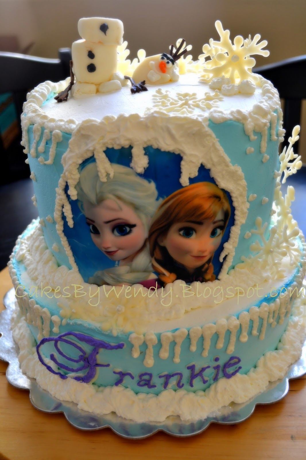 """Decorating One Cake at a Time.......: """"FROZEN"""" cake for a ..."""