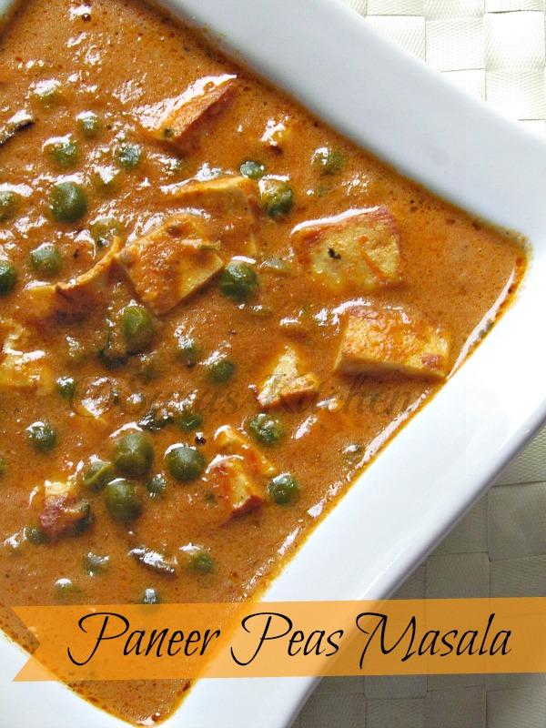 Mutter Peas Masala / Paneer Peas curry