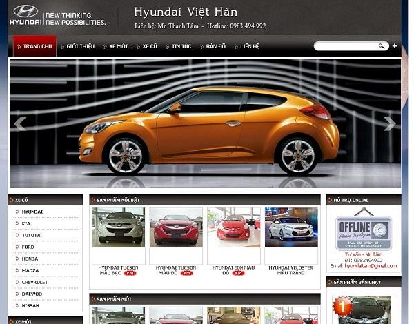 thiết kế website bán hàng ô tô đẹp
