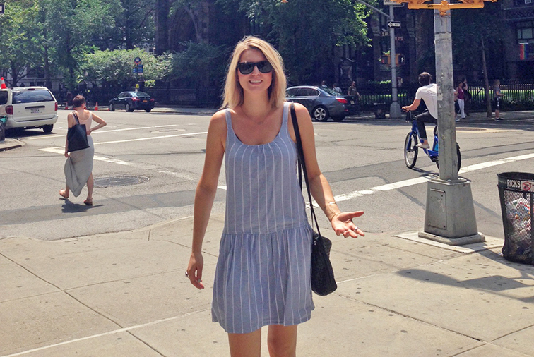 Ray-ban Wayfarers, summer heat, summer essentials, New York City, summer in the city, Joie dress
