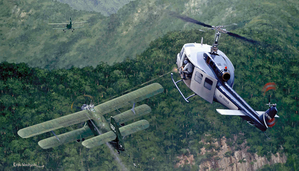 helicopter vs airplane Helicopter vs chopper helicopter is a winged aircraft where the wing on the top is rotating unlike airplanes that have fixed wings that are stationary.