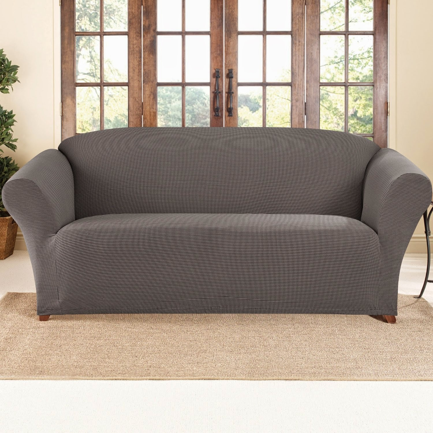 Sure Fit Gray Recliner Sofa Slipcovers