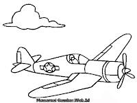 Mewarnai Gambar Pesawat Pengintai Musuh