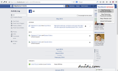 Cara Mudah Delete Status Di Facebook Menggunakan Add-ons