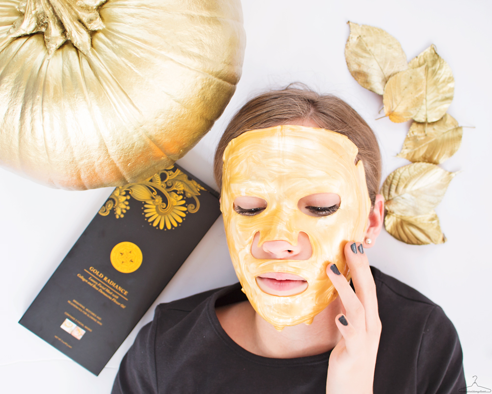 Gold Radiance - Step Inside My Closet - Passport2Beauty, Gold Radiance Mask, Gold Radiance,