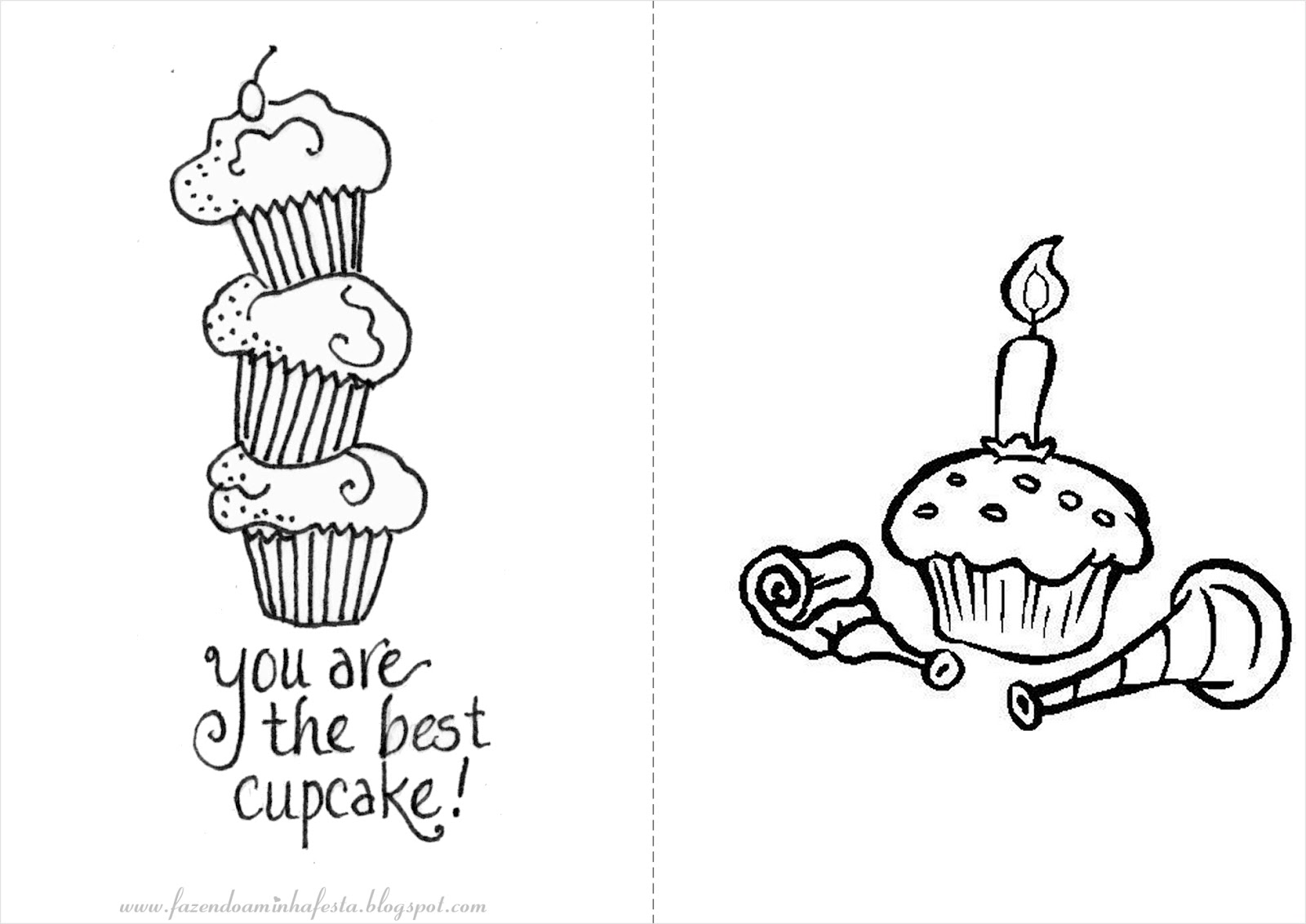 fazendo a minha festa para colorir cupcakes livrinho para colorir