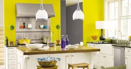 C mo decorar la cocina con poco dinero decoguia tu gu a de decoraci n - Pared cocina pintada ...