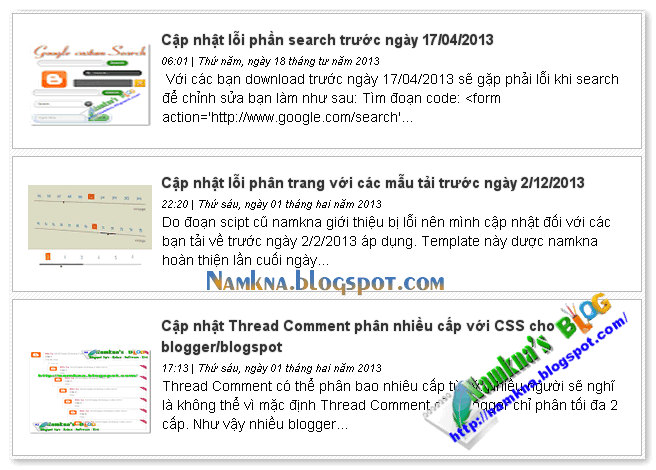 Auto readmore use scripts for blogspot style 3 - Auto readmore với thumbnail dùng scripts cho  blogspot style 3