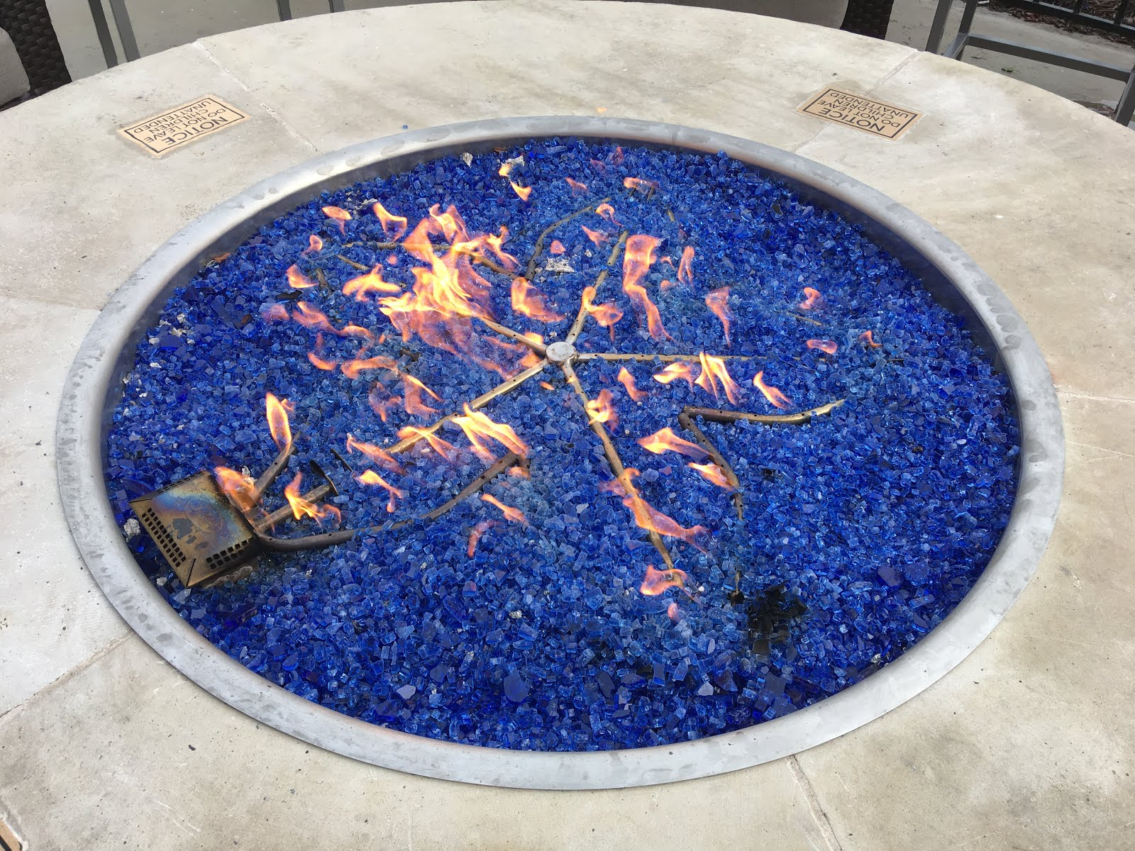 Tumbled blue glass for your firepit