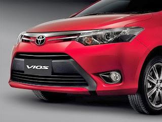 Phần đầu xe thiết kế hình chữ V tạo nên cho Toyota Vios 2016 phong cách trẻ trung năng động
