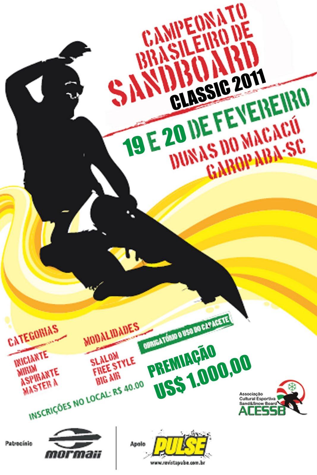 Confirmado o Sandboard Classic 2011 - Garopaba