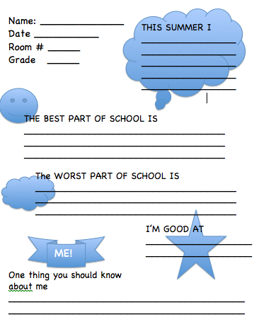 Get To Know You Questions For Kids Worksheet - Davezan