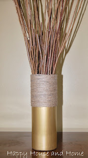 twine craft, vase with twine, upcycle project