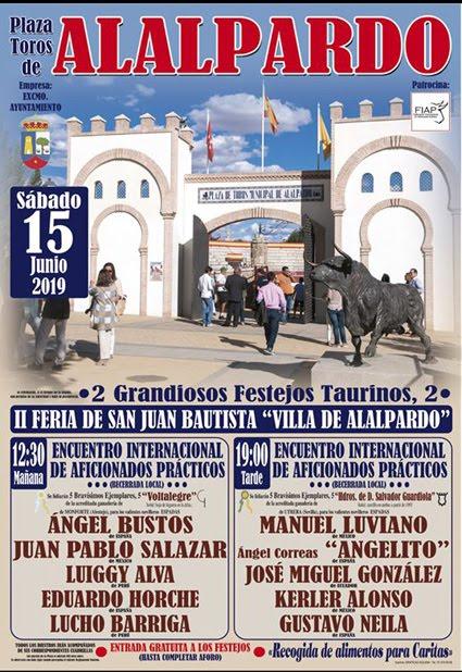 ALALPARDO (MADRID) 15 JUNIO 2019 DOS FESTEJOS TAURINOS