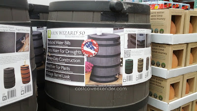 Save water with the Good Ideas Rain Wizard 50 Gallon Rain Barrel
