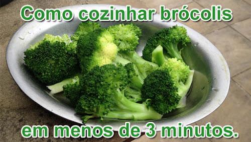 Como cozinhar brocolis em menos de 3 minutos