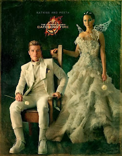 The beautiful Katniss Everdeen and the handsome Peeta Mellark of Hunger Games.