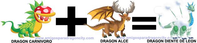 como sacar el dragon diente de leon en dragon city combinacion 1