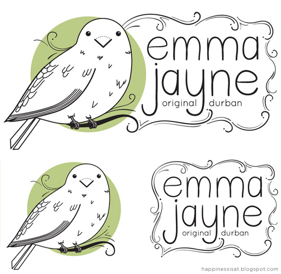 Happiness is... freelance illustration and graphic design - Logo & business card design for Emma Jayne