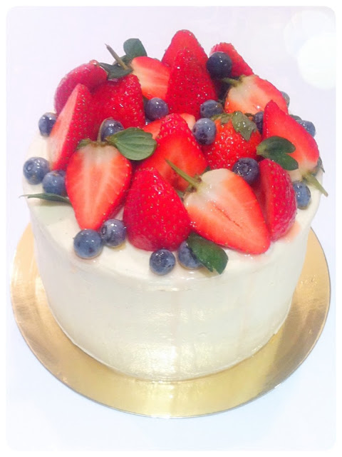 Cherie Kelly's Strawberry Fresh Cream Cake