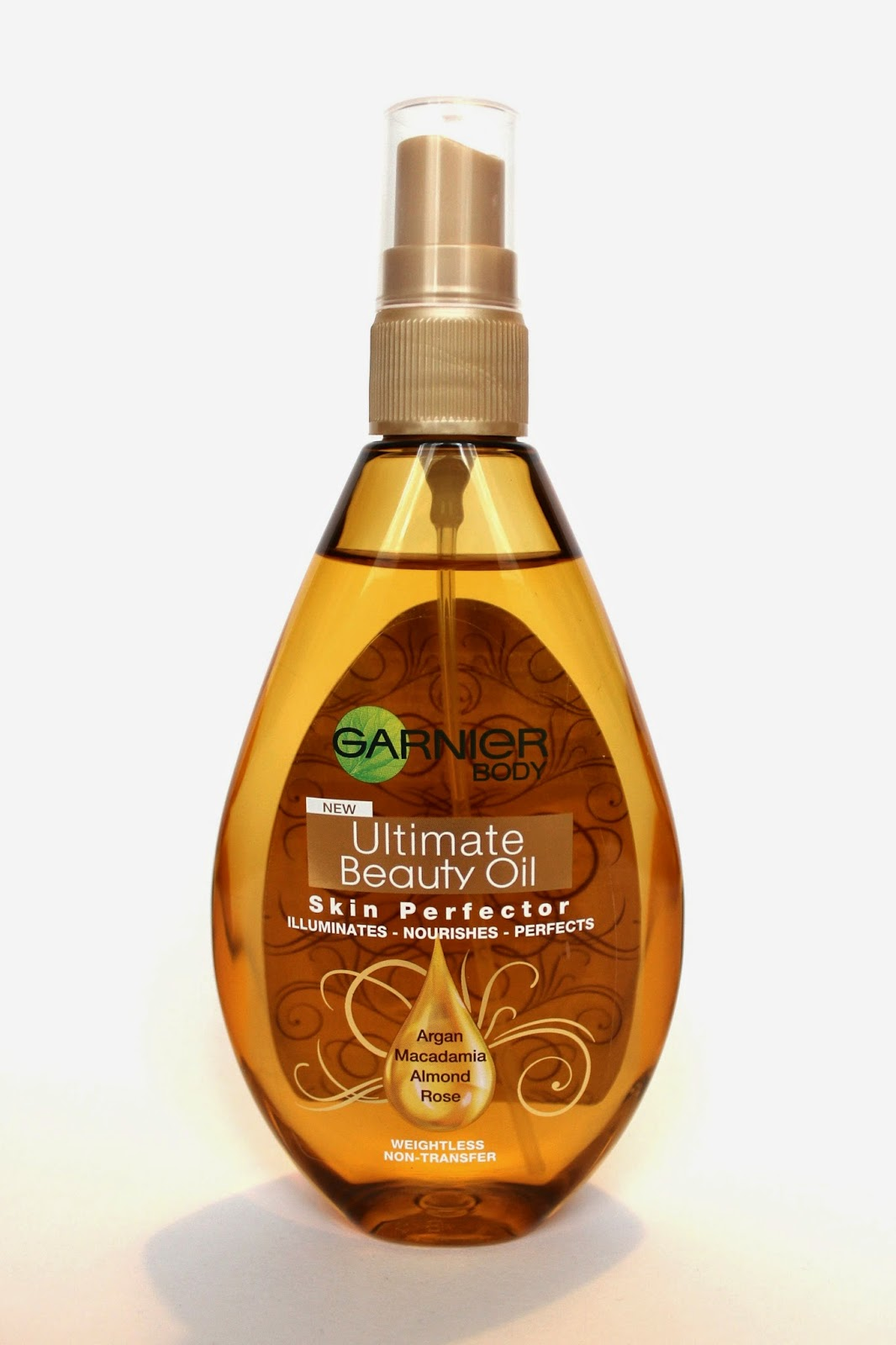 Bottle of body oil
