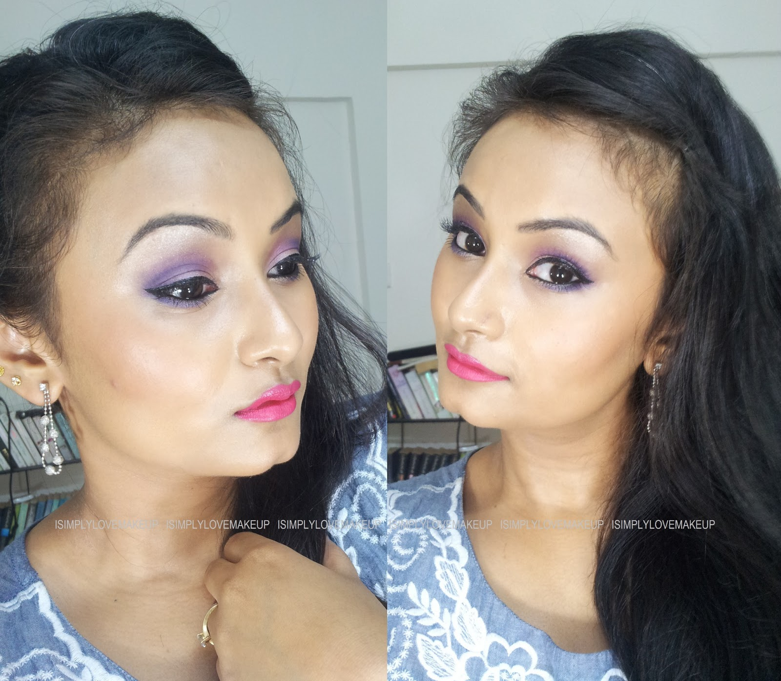 Purple Eye Makeup With Coastal Scents 88 Original Palette