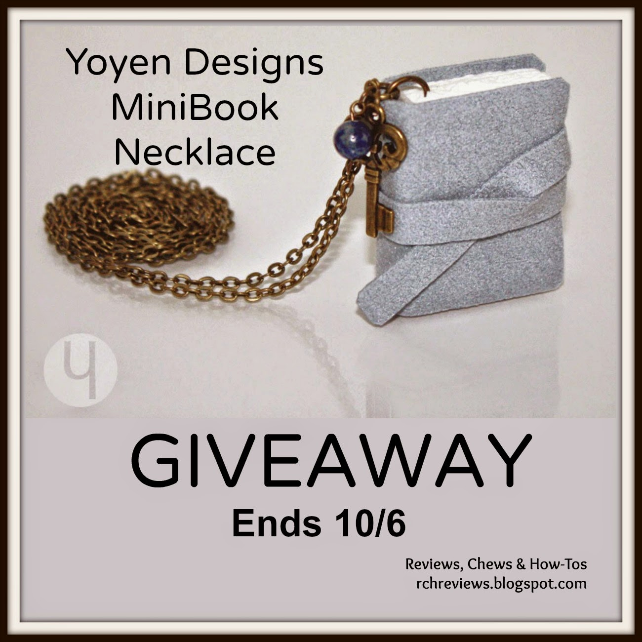 YOYEN DESIGNS MiniBook Necklace