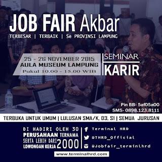 Terminal HRD Akan Menggelar Job Fari Akbar Terbesar Se-Provinsi Lampung November Ini