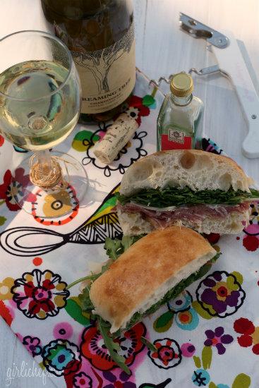 Prosciutto, Parmesan and Arugula Sandwich