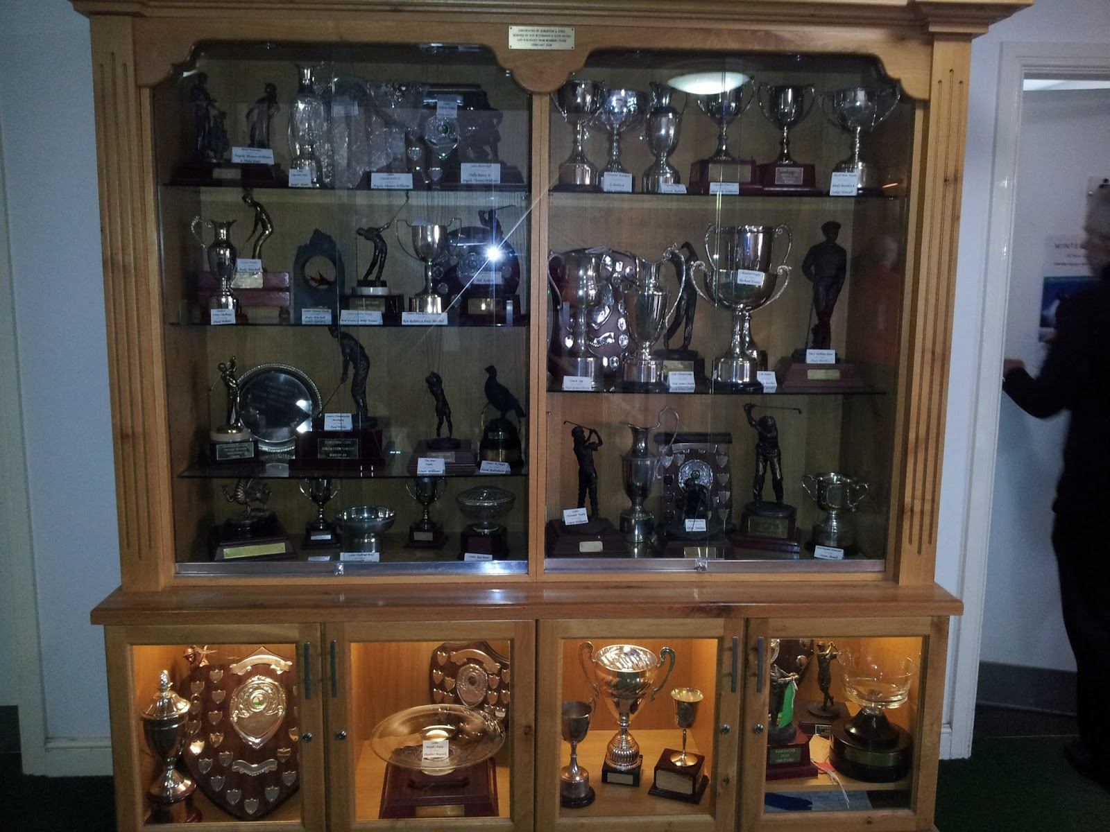 Trophy Cabinet With Many Thanks To Cliff Evans For Sorting This Display